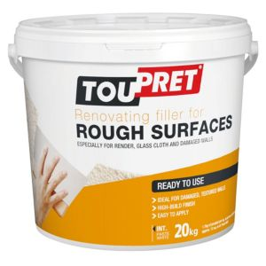 Image of Toupret Rough surface Ready mixed Smoothover finishing plaster 20kg