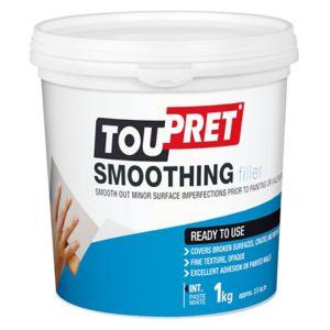 Image of Toupret Fine finish Ready mixed Finishing plaster 1kg Tub
