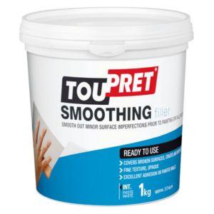 Image of Toupret Fine finish Ready mixed Smoothover finishing plaster 1kg
