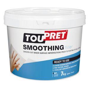 Image of Toupret Fine finish Ready mixed Finishing plaster 7kg Tub