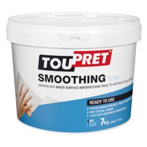 Image of Toupret Fine finish Ready mixed Smoothover finishing plaster 7kg