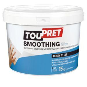 Image of Toupret Fine finish Ready mixed Smoothover finishing plaster 15kg