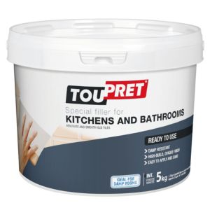 Image of Toupret Tiled surface Ready mixed Smoothover finishing plaster 5kg
