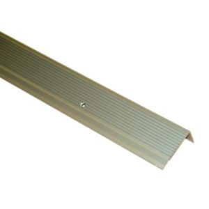View FFA Concept Anodised Aluminium Square Edge Step Edging, (H)45mm (W)23mm (L)2m details