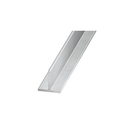 aluminium t profile h 15mm w 15mm l 1m departments diy at b q. Black Bedroom Furniture Sets. Home Design Ideas