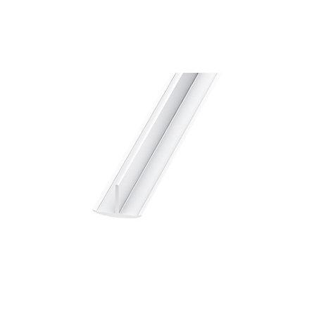 white pvc t profile h 25mm w 18mm l 2m departments. Black Bedroom Furniture Sets. Home Design Ideas