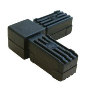 View Black PVC Square Tube Connectors (H)20mm (W)20mm details
