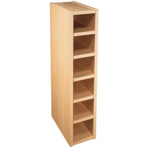 It kitchens beech style wine rack cabinet w 150mm for Beech effect kitchen base units
