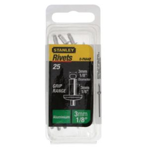 View Stanley Aluminium Rivets, Pack of 25 details