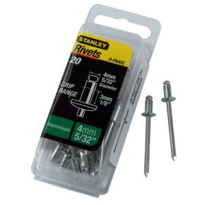 View Stanley Aluminium Rivets, Pack of 20 details