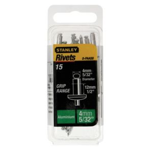 View Stanley Aluminium Rivets, Pack of 15 details