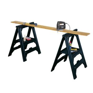 View Stanley Foldable Adjustable Sawhorse, Pack of 2 details