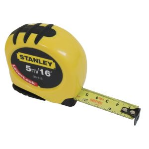 View Stanley Yellow & Black 5m Tape Measure details