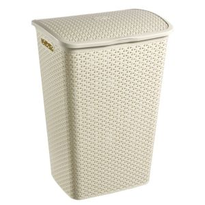 View Curver My Style White Plastic Laundry Hamper, 55L details