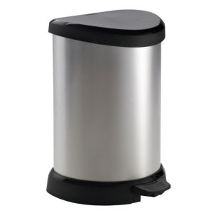 View Curver Contemporary Metallic Effect Plastic Kitchen Pedal Bin 20L details