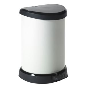 View Curver Contemporary Cream Plastic Kitchen Pedal Bin 20L details