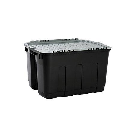 curver black grey 63l plastic storage box departments diy at b q. Black Bedroom Furniture Sets. Home Design Ideas