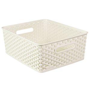 Curver My Style White 13L Plastic Storage Basket