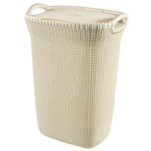 Curver Knit Collection White 57L Plastic Storage Basket