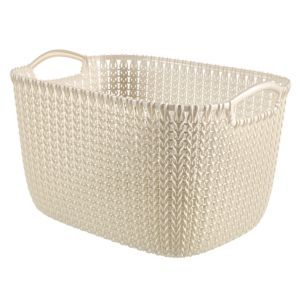 Image of Knit collection Oasis white 19L Plastic Storage basket