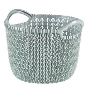 Image of Knit collection Misty blue 3L Plastic Storage basket