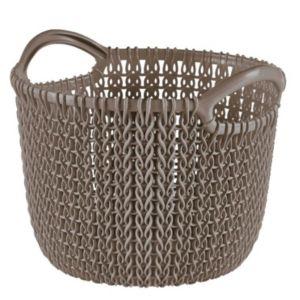Image of Knit collection Harvest brown 3L Plastic Storage basket