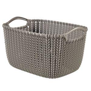 Image of Knit collection Harvest brown 8L Plastic Storage basket