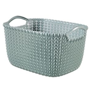 Image of Knit collection Misty blue 8L Plastic Storage basket