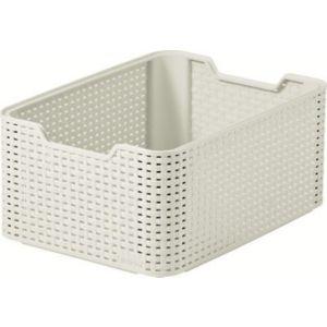 Image of Curver Vintage White Rattan Effect Basket