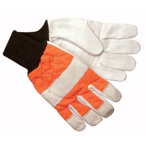 View B&Q Ballistic Nylon Filled Leather Chainsaw Protective Gloves details