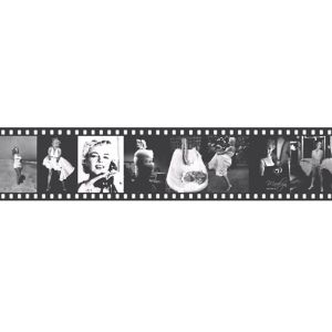 View Lutece Marylin Monroe Black & White Film Strip Border details
