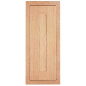 Cooke & Lewis Carisbrooke Oak Framed Standard Door (W)300mm