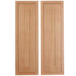 Cooke & Lewis Carisbrooke Oak Framed Larder Door (W)300mm  Set of 2