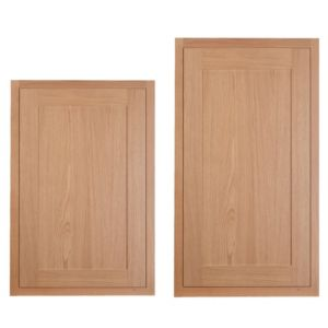 View Cooke & Lewis Carisbrooke Oak Framed Tall Larder Door (W)600mm, Set of 2 details