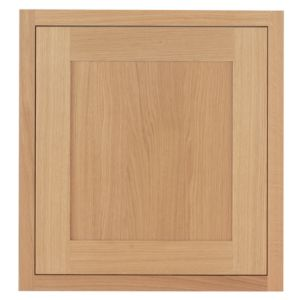 Image of Cooke & Lewis Carisbrooke Oak Framed Tall Double Oven Housing Door (W)600mm