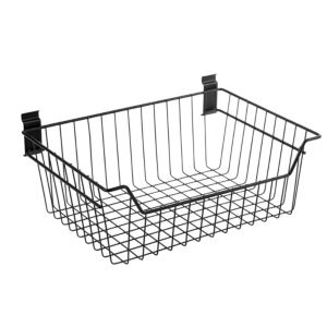 Walltech Wall Mountable Black Metal Basket (W)460mm (L)190 mm