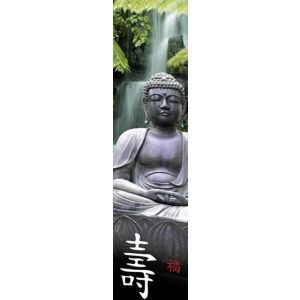 View Buddha Green & Grey Wallpaper details