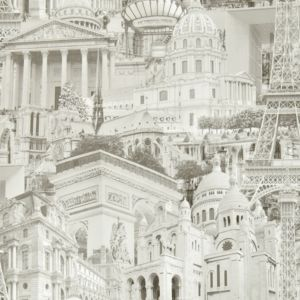 View Paris Photographic City Motif Cream & Grey Wallpaper details