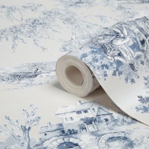 View Toile Blue Wallpaper details