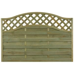 View Green Woodbury Timber Fence Panel (W)1.8m (H)1.04m details