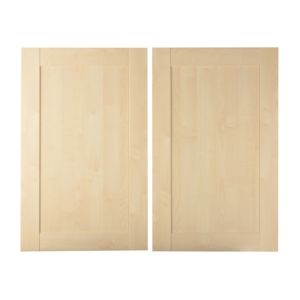 View IT Kitchens Contemporary Maple Style 600mm Larder Door, PACK E, Set of 2 details