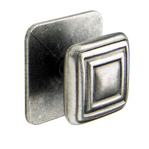 View Pewter Effect Classic Square Knob, Pack of 2 details
