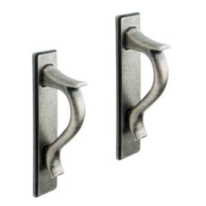 View IT Kitchens Antique Pewter Effect D-Shaped Handle Pack of 2 details