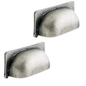 View IT Kitchens Antique Pewter Effect Cup Handle Pack of 2 details