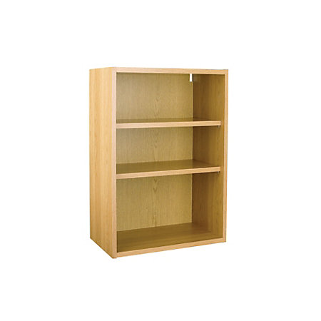 it kitchens oak effect open wall cabinet w 500mm