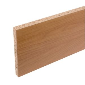 Cooke & Lewis Kitchens Oak Effect Straight Plinth (L)2.40m