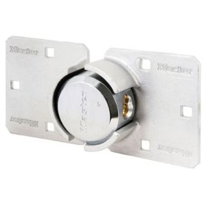 View Master Lock 73mm Nickel Zinc Effect Van Padlock & Hasp Set details