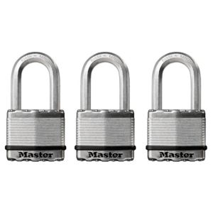 View Master Lock Steel Pin Tumbler Padlock (W)50mm, Pack of 3 details