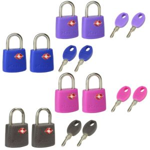 Master Lock Luggage ABS Keyed Padlock (W)20mm  Pack of 2