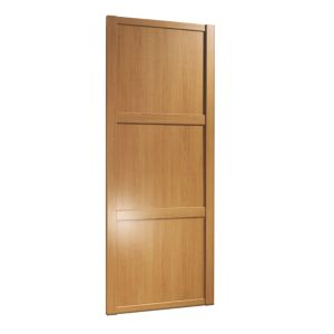 View Traditional Oak Effect Sliding Wardrobe Door (H)2220 mm (W)914 mm details